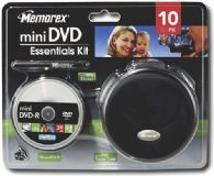 Memorex Mini DVD Essentials Kit - 8cm DVD-R Discs + Storage Case & Pen